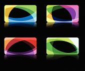 Abstract wave backgrounds collection