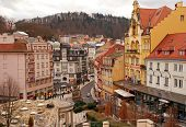 Karlovy Vary In The Winter Time.