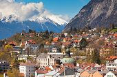 stock photo of dom  - View of Innsbruck city Tirol Alps Austria - JPG