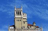 image of asheville  - Gothic Revival architecture is shown in historic Jackson Building in downtown Asheville North Carolina - JPG