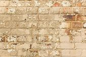 Aged Crumbling Brick Wall Texture Background