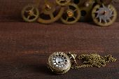 Steampunk style watch with gears