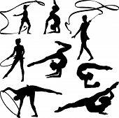 rhythmic gymnastics - silhouette
