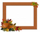Thanksgiving Fall Autumn Leaves Frame Burlap