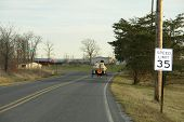 pic of mennonite  - sawdust delivery - JPG