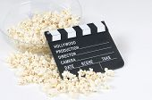 Pop Corn With Cinema Blackboard