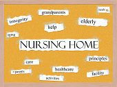 Nursing Home Corkboard Word Concept