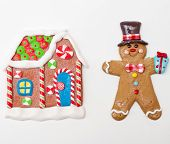 Gingerbread Man And Gingerbread House