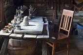 Artist's Workshop Hundred Years Ago