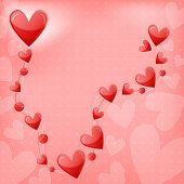 Romantic heart background