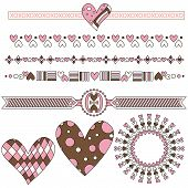 Romantic heart trims and graphics