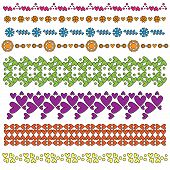Colorful heart trim or border collection