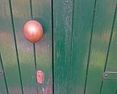 Doorknob On Wood