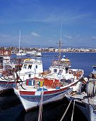 Boats in harbour, Paphos, Cyprus.