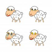 A Funny Sheep Expressing Different Emotions