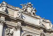 Pediment Of Poli Palace ( Palazzo Poli ), Trevi Fountain, Rome