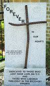 September 11 Memorial in the front of the church