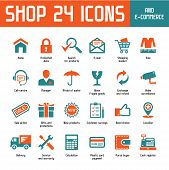 Tienda 24 Vector Icons - Shoppin Internet & E-Commerce