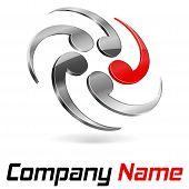 Logo 3D Branding poster