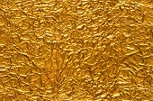 Crinkled Gold Foil Background