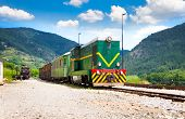 MOKRA GORA, SERBIA-JULY 14: The Shargan Eight railway on July 14,2013. It is a narrow-gauge heritage