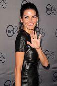 LOS ANGELES - 24 de JUL: Angie Harmon llega a la fiesta de aniversario 25 de TNT en el Beverly Hilton Ho