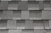 Shingle Roofing Close-up Texture Photo