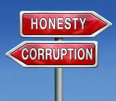 foto of corruption  - corrupt or honest corruption or honesty - JPG