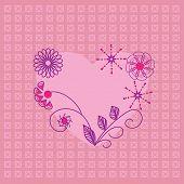 Ícone de um coração lindo. Cartão para dia dos namorados, convite ou Parabéns