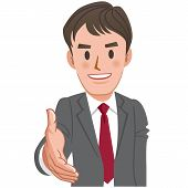 Cartoon Businessman Handshake