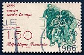 Postage Stamp France 1985 Pasteur Inoculating Patient
