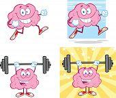 Brain Cartoon Mascot Collection 14