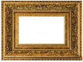 Golden Vintage Frame Empty
