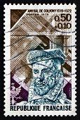 Postage Stamp France 1973 Gaspard De Coligny, Admiral