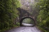 Tunnel In The Mountain Near Lillafured, Miskolc, Hungary
