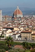 Cathedral of Florence Italy View from the Michelangelo's Piazza