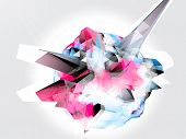 stock photo of triangular pyramids  - Abstract 3D vector background - JPG