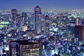 Tsukiji Landkreis Skyline in Tokio, Japan.