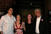 LOS ANGELES - NOVEMBER 2: Brandon Routh and Courtney Ford with Lauren Shuler Donner and Richard Donn