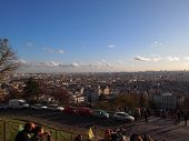 Breathtaking view of Paris from Sacre Coeur Basilica