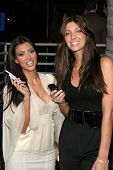 LOS ANGELES - NOVEMBER 13: Kim Kardashian and Brittney Gastineau at the Helio Drift Launch Party at