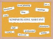 Administrative Assistant Corkboard Word Concept