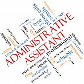 Administrative Assistant Word Cloud Concept Angled