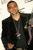 LOS ANGELES - NOVEMBER 21: Sean Paul in the press room at the 34th Annual American Music Awards at S