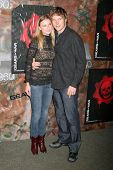 HOLLYWOOD - OCTOBER 25: Emily Vancamp and Chris Pratt at the launch for the Xbox 360 game