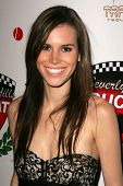 LOS ANGELES - DECEMBER 02: Christine Danielle at a party celebrating the launch of the 2007 Ducati A