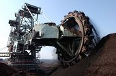 pic of collier  - Coal rotating blades digger at surface mine - JPG