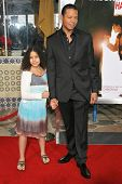 WESTWOOD, CA - DECEMBER 07: Terrence Howard and daughter at the premiere of