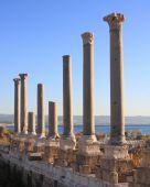 Colunas romanas em tiro
