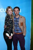 Kristen Hager, Sam Huntington at NBCUniversal's